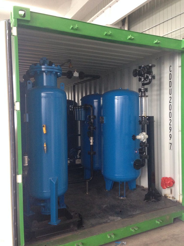 2000Nm3 / H Mobile Nitrogen Generation Unit Container Type For Oil / Gas Industry